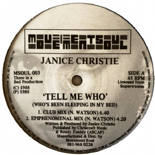 "Janice Christie - Tell Me Who (Who's Been Sleeping In My Bed) (12"") (VG/NM)"